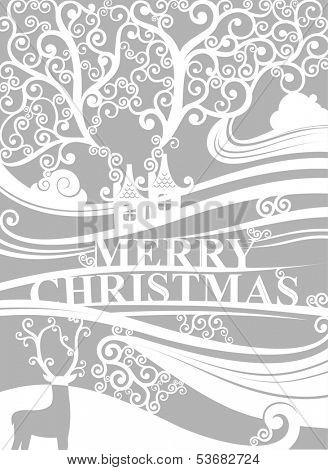 Merry Christmas delicate banner