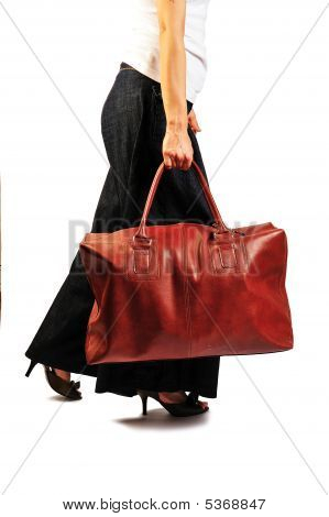 Carrying The Handbag