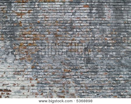 Weathered Painted Brick Wall