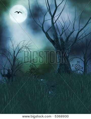 Spooky Haunted Background