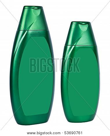 Shampoo Dark Green Containers Isolated