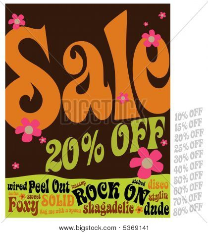 70s Style Sale Sign