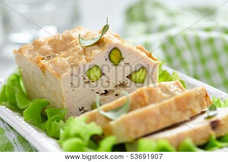 Chicken terrine with pistachios