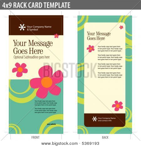 4x9 Two Sided 70s Rack Card Vector