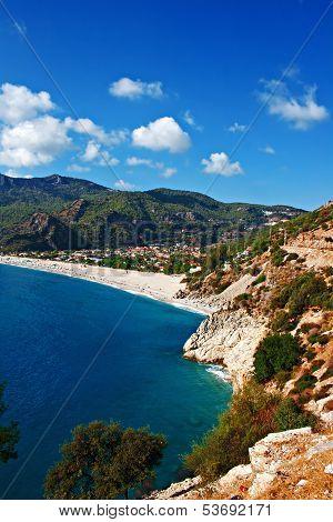 Oludeniz Beach In Turkey On A Summers Day