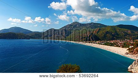 Oludeniz Beach In Turkey On A Summers Day