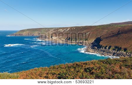 Cornwall coast view from Zennor Head Cornwall England UK near St Ives on the South West Coast Path
