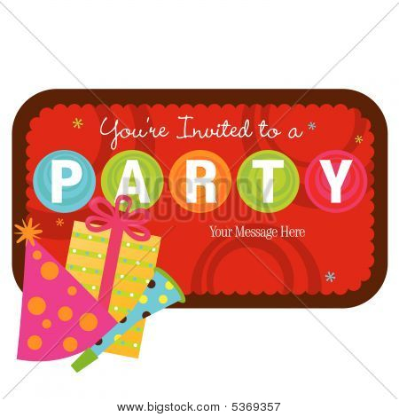 Isolated party items with sign vector