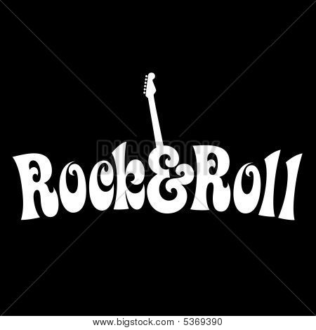 70s style Rock & Roll Design Vector