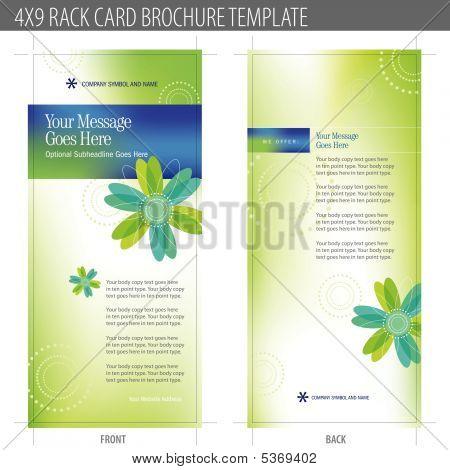 Rack Card Brochure Template Vector