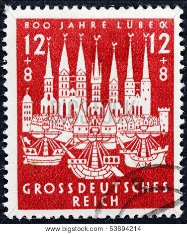Lubeck 1943 Stamp