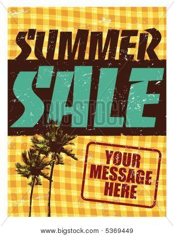 Summer Sale Flyer/Poster Template Vector