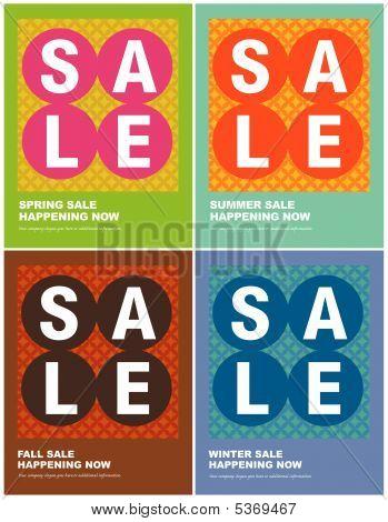 8.5x11 Seasonal Sale Flyers/Posters