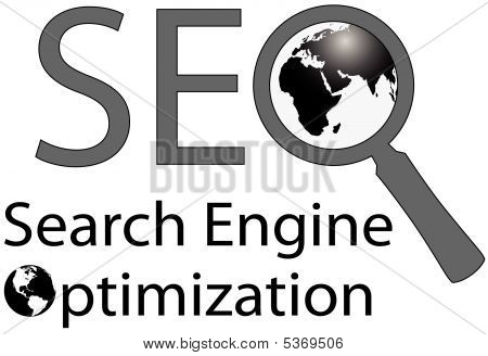 Mundo gran lupa Seo Search Engine
