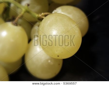 Close-up Of Grapes On Black Background