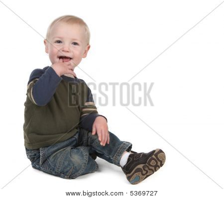 Bright Happy Young Toddler Smiling