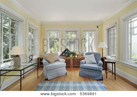 Sun Room In Suburban Home
