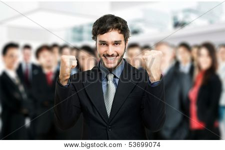 Portrait of an happy businessman