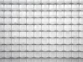 stock photo of building relief  - Metal tiled relief panels at the wall - JPG