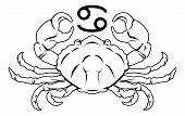 pic of cancer horoscope icon  - Illustration of Cancer the crab zodiac horoscope astrology sign - JPG