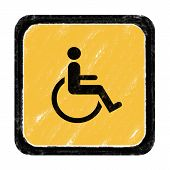 image of crippled  - Sign for beware cripple cross according to various locations - JPG