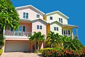 picture of beach-house  - Two New Colorful Beach Houses with Landscaping - JPG