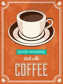 vector vintage coffee poster