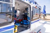 stock photo of medevac  - A mobile flying ambulance better known as a life flight - JPG