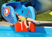 Child On Waterslide