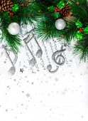 stock photo of treble clef  - Photo of Christmas tree border - JPG