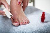 Toes With Nail Polish poster