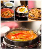 pic of kimchi  - Collage from photographs of korean cuisine  - JPG