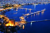View Of Alanya Harbor From Alanya Peninsula. Turkish Riviera