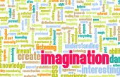 stock photo of daring  - Imagination and Dare to Imagine as Concept - JPG