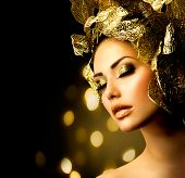 stock photo of makeover  - Fashion Glamour Makeup - JPG