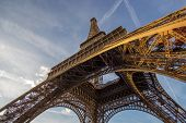 foto of arch foot  - eiffel tower in Paris France - JPG