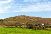 picture of st ives  - Hills in Zennor Cornwall England UK near St Ives in the Cornish countryside - JPG