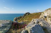 stock photo of promontory  - Zennor Head promontory Cornwall England UK near St Ives on the South West Coast Path - JPG