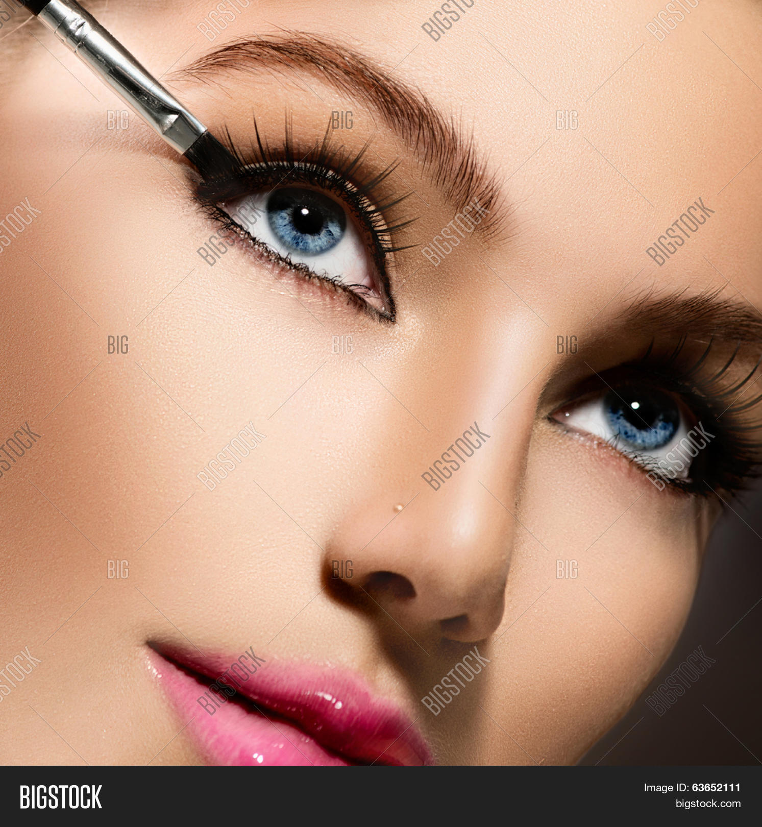 Makeup on eye