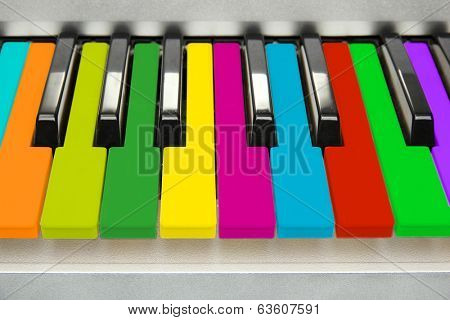 Background of colorful piano keyboard