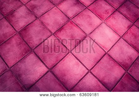 Background Surface Of Pink Tiles