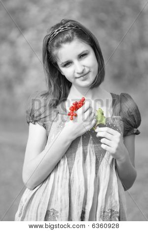 Girl With The Guelder-rose Branch