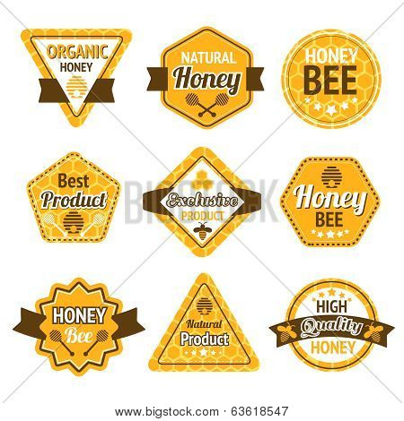 Honey labels set