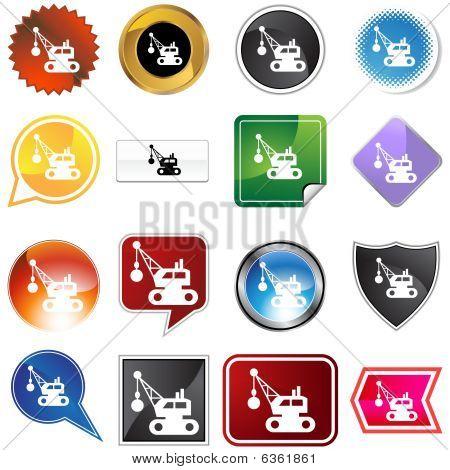 Wrecking Ball Icon Set