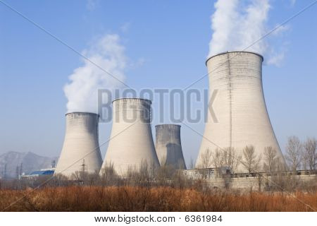 china: cooling towers of a power plant