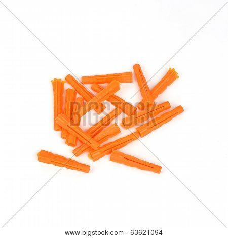 Plastic construction dowels