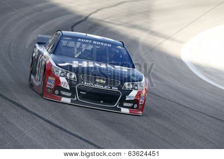 Fort Worth, TX - Apr 04, 2014:  Kurt Busch (41) brings his race car through the turns during a practice session for the Duck Commander 500 at Texas Motor Speedway in Fort Worth, TX.