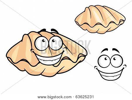 Cartoon clam shell or musse