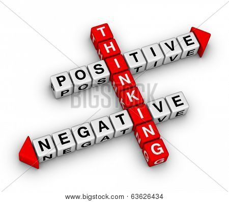 positive and negative thinking crossword puzzle