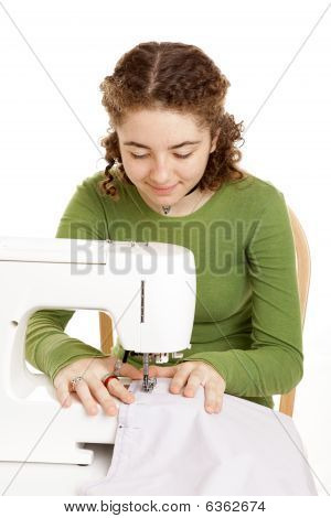 Teen Girl Sewing